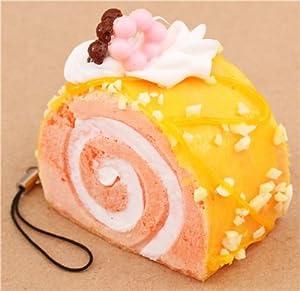 Colgante blando Squishy móvil pastel mandarina cobertura limón fruto seco de Kawaii