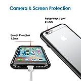 JETech® Apple iPhone 6 6S 4.7″ Hülle Tasche Schutzhülle Case Cover Bumper und Anti-Scratch Löschen Back für iPhone 6s und iPhone 6 (Schwarz) - 3