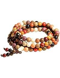 ac36348813ff8 Epoch World 8mm-108 Bracelet Perles en Bois de Santal Naturel Collier  Bracelet Chaîne