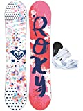 Kinder Freestyle Snowboard Set Roxy Poppy 118 Banana Traditional Set Gi