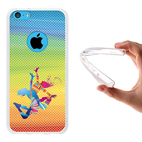 iPhone 5C Hülle, WoowCase Handyhülle Silikon für [ iPhone 5C ] Basketball Handytasche Handy Cover Case Schutzhülle Flexible TPU - Transparent Housse Gel iPhone 5C Transparent D0503