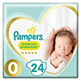 Pampers New Baby Micro, 144 Diapers, Size 0 (1.5-2.5 kg)/(1-2.5kg), 6 packs of