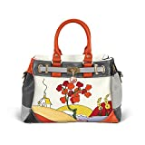 Clarice Cliff-Inspired Tri-Colour functional and stylish Handbag, with incredible patterns and vibrant colour due to its art deco design, exclusively from The Bradford Exchange