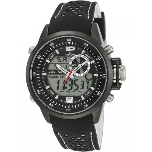 RADIANT watch NICKEL FREE RA400601 Man Black Silicone Chronograph