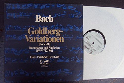 Goldberg Variationen BWV 988, Inventionen und Sinfonien BWV 722 - 801. Hans Pischner. Club Sonderauflage Stereo 801 Stereo
