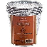 Traeger Aluminiumeinsatz für Fettauffang-Eimer, 5er Pack