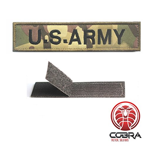 U.S.ARMY patch woodland camo with Velcro (Army Camouflage Flag)