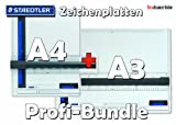 STAEDTLER Zeichenplatte A4+A3 Profi-Bundle & Sparpaket
