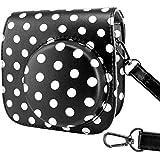 Fujifilm Instax Mini 8/Mini 8+ Case Bag - Wolven Designed Fujifilm Instax Mini 8/Mini 8+ Case Bag Purse - Black White Polka Dots/Black White Spots