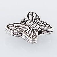 "A-szcxtopâ""¢30pcs Tibetan Silver Butterfly Spacer Charm Beads 10mm"