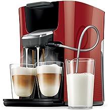 Senseo Latte Duo HD7855/80 Independiente Totalmente automática Máquina de café en cápsulas 1L Rojo - Cafetera (Independiente, Máquina de café en cápsulas, Rojo, Taza, De plástico, Tocar)