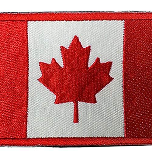 Zonfer Canadá Bordado Parche Bandera Placas Planchado