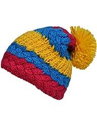 Toutacoo, Bonnet Tricot Semi-Long à Pompon - Fabriqué Main