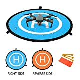 "YINGJEE Drone Landing Pad 30""/75cm Waterproof Portable Foldable Helipad Helicopter Landig Mat for DJI Phantom 3 4, Mavic Pro, Spark, DJI Mavic Air, Inspire and other Quadcopters by YINGJEE"