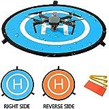 """Pista de aterrizaje de drones, 30""""/75cm Impermeable Helicoptero Plegable Portátil Helicoptero Landig Mat para DJI Mavic Pro Phantom 2/3/4/Pro, Helicóptero RC, Mavic Pro, Chispa, Inspire drone y más"""