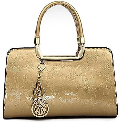 Realer Designer Patent Leather Hobo borse e borsette Tote per le donne Teenager ragazze Wallet