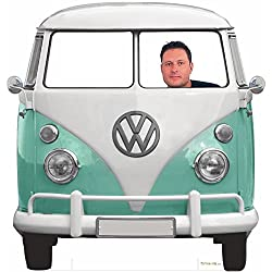 Photocall Furgoneta Volkswagen Clásica Para Bodas / Medidas: 1,50x1,50m | 1cm de Grosor | Contiene 2 Peanas Para Apoyo
