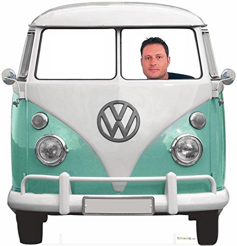 Photocall Furgoneta Volkswagen Clásica para Bodas/Celebraciones/Medidas: 1,50x1,50m | 1cm de Grosor | Contiene 2 Peanas para Un Apoyo Excelente