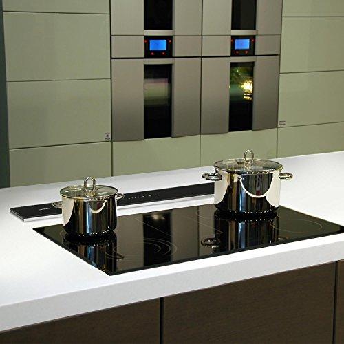 Klarstein Royal Flush Downdraft • Cappa Aspirante da Cucina a Scomparsa •  Regolabile 4 Livelli di Potenza • 540 m³/h • 90 cm • Design Elegante • ...