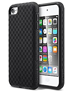 iPod 6 Case, ULAK iPod 5 Case Slim Fit Protection Dual Layer Hybrid Matte Shock Absorption Case Cover for Apple iPod Touch 5th 6th Generation (Black)