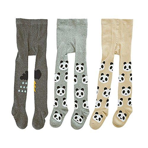Lydreewam 3er-Pack Cute Kinder Jungen Mädchen 0-3 Jahren Strumpfhosen Legging Hosen Warme Strümpfe