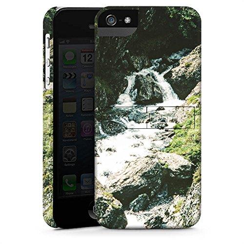 Apple iPhone X Silikon Hülle Case Schutzhülle Wasserfall Felsen Gebirge Premium Case StandUp