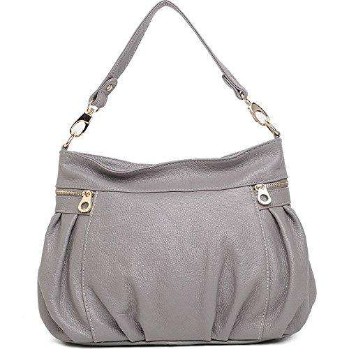Chlln Die Neue Ledertasche Damen Rucksack Schultern? gray