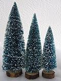 6 x Deko Tannenbäume mit Schnee für die Modelleisenbahn in drei Größen