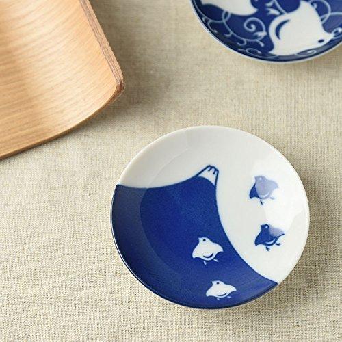 [5 piatti set]Yamani Ceramica Mino Yaki a Mano Chidori Bird