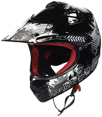 "ARMOR HELMETS® AKC-49 ""Black"" · Kinder-Cross-Helm · Motorrad-Helm MX Cross-Helm MTB BMX Cross-Bike Downhill Off-Road Enduro-Helm Moto-Cross Sport Pocket-Bike · DOT Schnellverschluss Tasche S (53-54cm)"