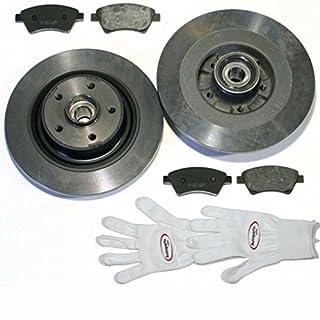 Autoparts-Online Set 60010481 Bremsscheiben/Bremsen + Beläge + Radlager + ABS-Ringe für Hinten/für die Hinterachse