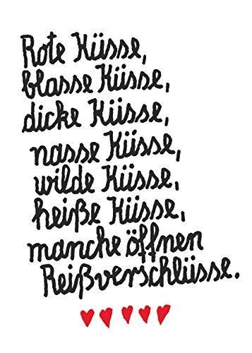 """Postkarte A6 • 30848 """"Rote Küsse"""" von Inkognito • Künstler: Frantz Wittkamp • Sex • Liebe & Romantik • Text"""