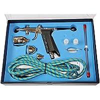 [No brand merci] air brush set tre 0,3. 0,5. 0,8. millimetri a doppia azione corredo della spazzola di aria della pistola presa (1.. merci normali)