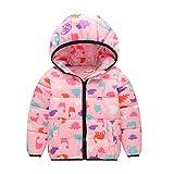 Niños Caliente Abrigo Niña chaqueta acolchada con capucha sudadera abrigo anorak invierno chaqueta...