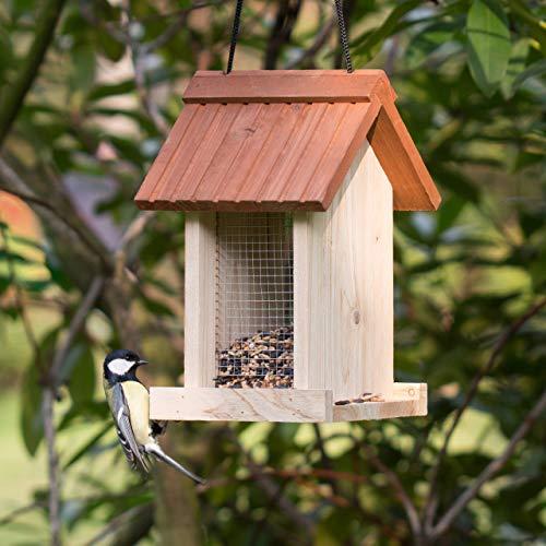 Relaxdays Vogelfutterhaus aus Holz - 2