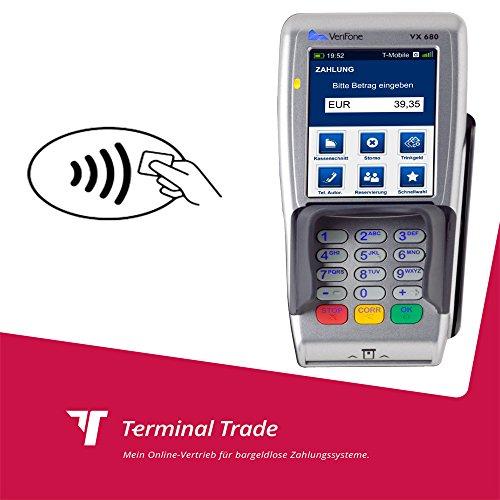 EC Terminal VeriFone VX 680 mobil mit GPRS für Kartenzahlungen inkl. kontaktloses Bezahlen auch Kreditkartenakzeptanz möglich Vx-terminal