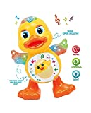 #1: Kids Choice Dancing Duck Toy with Real Dancing Action & Music Flashing Lights, Multi Colour by AVS Retail