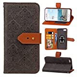 iPhone 6 Lederhülle, Asnlove PU Ledertasche Schutzhülle + Weich Hülle Stand Feature Flipcase Tasche Leather Case mit Standfunktion Tablet Etui mit Karte Slots für iPhone 6 Case, iPhone 6s Cover - Schwarz