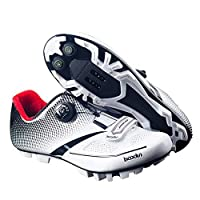 Adult's A2 MTB or Road Synthetic Cycling Shoe Mountain Bike Road Cycling Shoes Professional Racing (9 M US, A2-MTB-White)