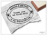Stempel - Individueller Hochzeitsstempel .TRAUEN Sich als Poststempel, Personalisiert mit Namen Datum Ort, Geschenk zur Hochzeit - von zAcheR-fineT