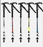Wanderstock Carbon Ultraleicht Teleskop Trekkingstock Multifunktionale Faltung Zuckerrohr 65-135cm Wanderstock (5 Farben)