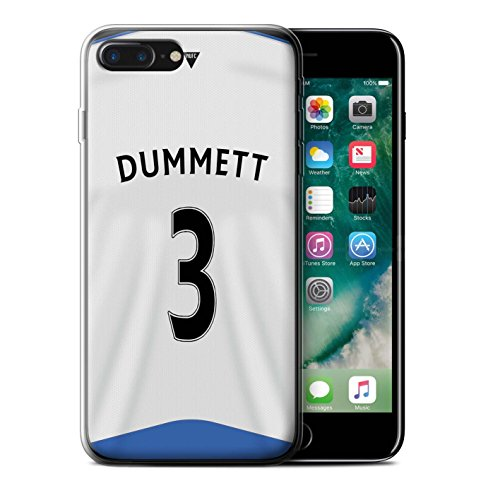 Officiel Newcastle United FC Coque / Etui Gel TPU pour Apple iPhone 7 Plus / Obertan Design / NUFC Maillot Domicile 15/16 Collection Dummett