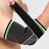 Miminuo tutore per gomito compressione per gomito del tennista, benda elastica sostegno basket running pallavolo per protezione gomito regolabile Pad brace
