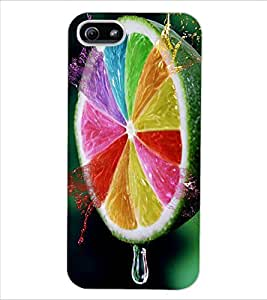 ColourCraft Creative Leamon Design Back Case Cover for APPLE IPHONE 5S