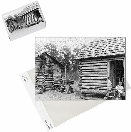 photo-jigsaw-puzzle-of-log-cabins-in-thomasville-florida-c1900-b-w-photo