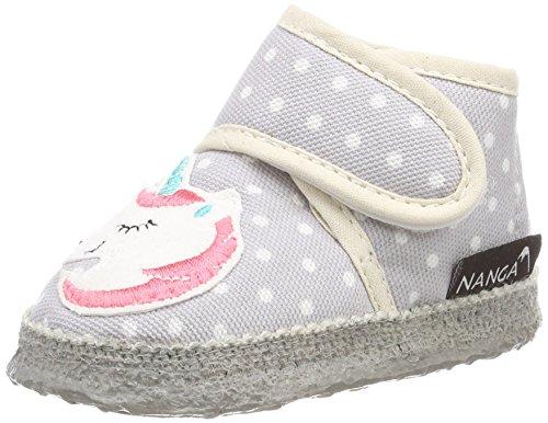 Nanga Unisex Baby Amalia Lauflernschuhe, Grau (Hellgrau), 20 EU (Babyschuhe Filz)