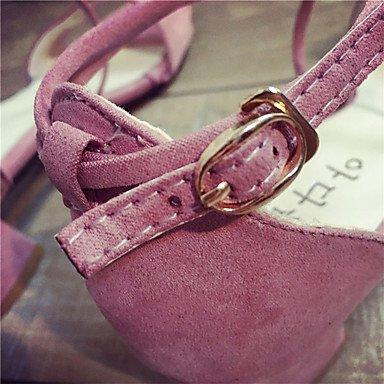 LvYuan Da donna Sandali Tessuto Autunno Footing Fibbia Basso Nero Grigio Rosa Meno di 2,5 cm blushing pink