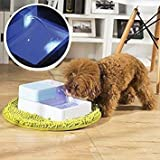 ParaCity LED Automatic Pet Water Drinking Filter Fountain Bowl Dogs Cats Drinker (Pet Drinker led+uv)