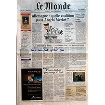 MONDE (LE) [No 18865] du 18/09/2005 - SUPPLEMENT - LE MONDE RADIO TELEVISION - AFGHANISTAN - LE JEU DES ANCIENS COMMUNISTES IRAK - TAREK AZIZ CLAME SON INNOCENCE EXCLUSION - VERS UN SERVICE BANCAIRE UNIVERSEL HEWLETT-PACKARD - MOBILISATION CONTRE LES LICENCIEMENTS MOTO - GRAND PRIX DU JAPON SUPPLEMENT - LE MONDE ARGENT - DES FONDS GARANTIS PAS TOUJOURS ALLEMAGNE - QUELLE COALITION POUR ANGELA MERKEL ? LAURENT FABIUS NE PARVIENT PAS A RASSEMBLER LE NON SOCIALISTE LES PE