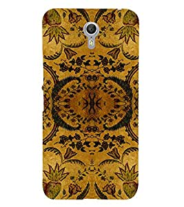 HiFi Designer Phone Back Case Cover Lenovo ZUK Z1 ( Royal Green leaves Pattern Design )